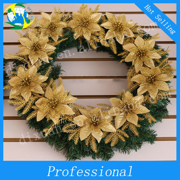 (DX-SD-00146)Wholesale Golden Decorative Christmas Garland
