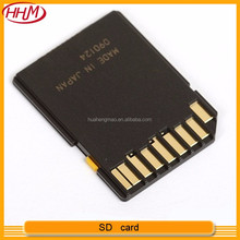 High quality Fast speed Black color yellow tab lock SD card with changeable CID