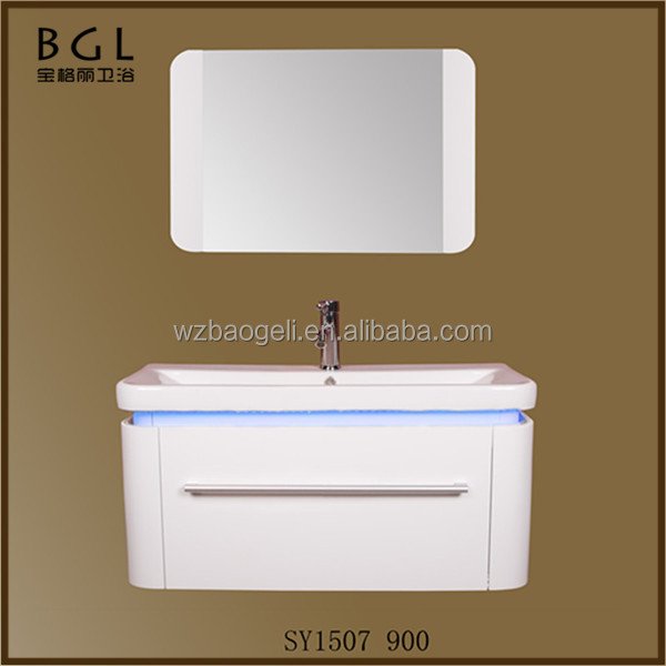 Direct Marketing Factory Simple White Painting LED Light Wall Mounted Bathroom Cabinet