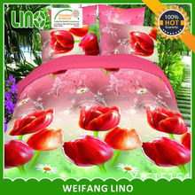 adult sexy red rose design photo print home comforter bedding set