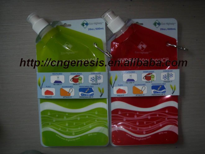 2016 New Promotional foldable plastic water bottle