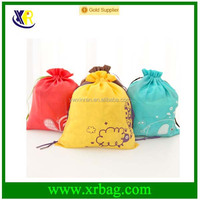 promotional hot selling cute cotton drawstring gift bags