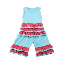 New pretty baby clothes 2016 girl outfit baby ruffle suit for 2-6 year old child spring children's boutique clothing