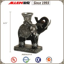 "6,5""fabbrica diretto in resina ingrosso elefante supporto di <span class=keywords><strong>candela</strong></span>"