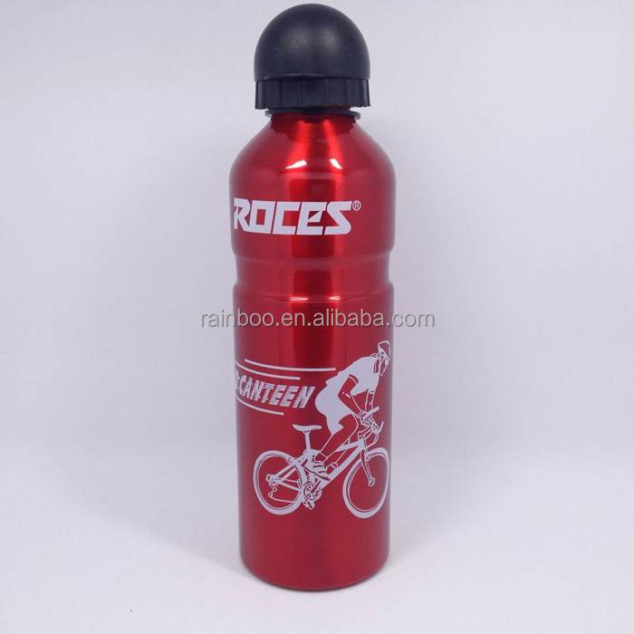 Supply FDA food safety 750ML aluminium stainless steel sports bottle with round cap