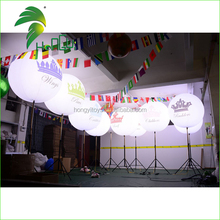 Customized Tripod Inflatable Stand Led Light Balloon / Wedding Party Etertainment Evening Light / Balloon Lights Construction