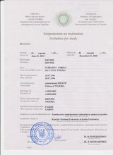Admission/Invitation and Visa upport letter
