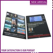 300-6000mAh battery lcd screen video brochure postcard hot selling latest large size video cards