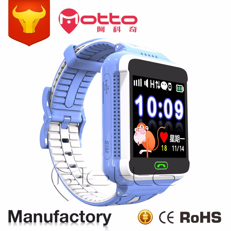 Fashion design android touch screen remote monitoring sos phone calling kids smart gps tracker watch