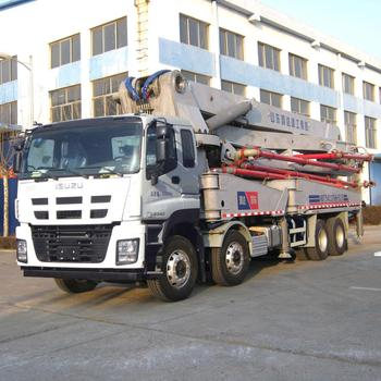 Engineer available to service overseas 52m howo chassis truck mounted concrete pump With REXROTH Valve