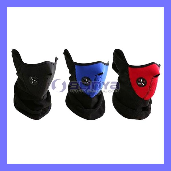 Width 28cm Neoprene and Thermal Fleece Pink Ski Mask