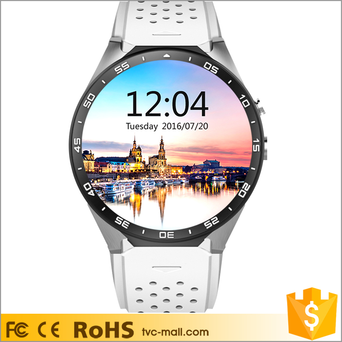KW88 MTK6580 Quad core 4GB Android 5.1 Smart Watch Phone