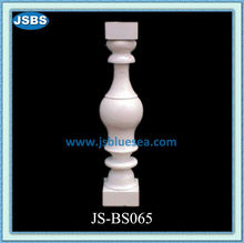 Hand Carved White Stone Interior Stair Railings