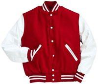 Custome American Baseball Jackets Red and White