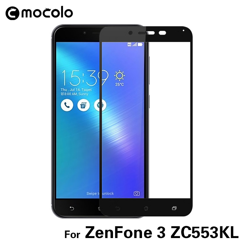 High Clear Full Cover for Asus Zenfone 3 Screen Protector Tempered Glass with Retail Package