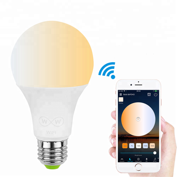 Smart  bulb Alexa CCT 6.5W Cold white and Warm White light smart nuln Alexa echo