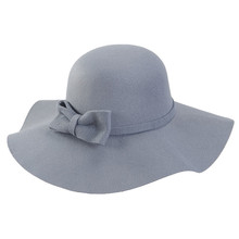 fashion wide brim fake wool felt hat hillbilly hat as gift