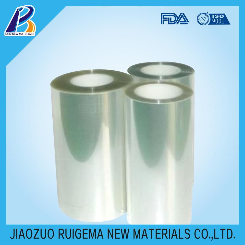 Transparent PET shrink film rolls for lamination and packaging