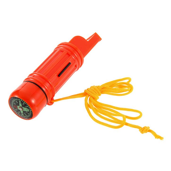 5 in 1 Multi-function Emergency Survival Compass Whistle Camping Tool