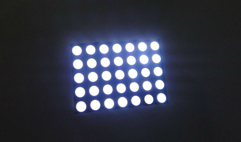 5*7 led dot matrix white color
