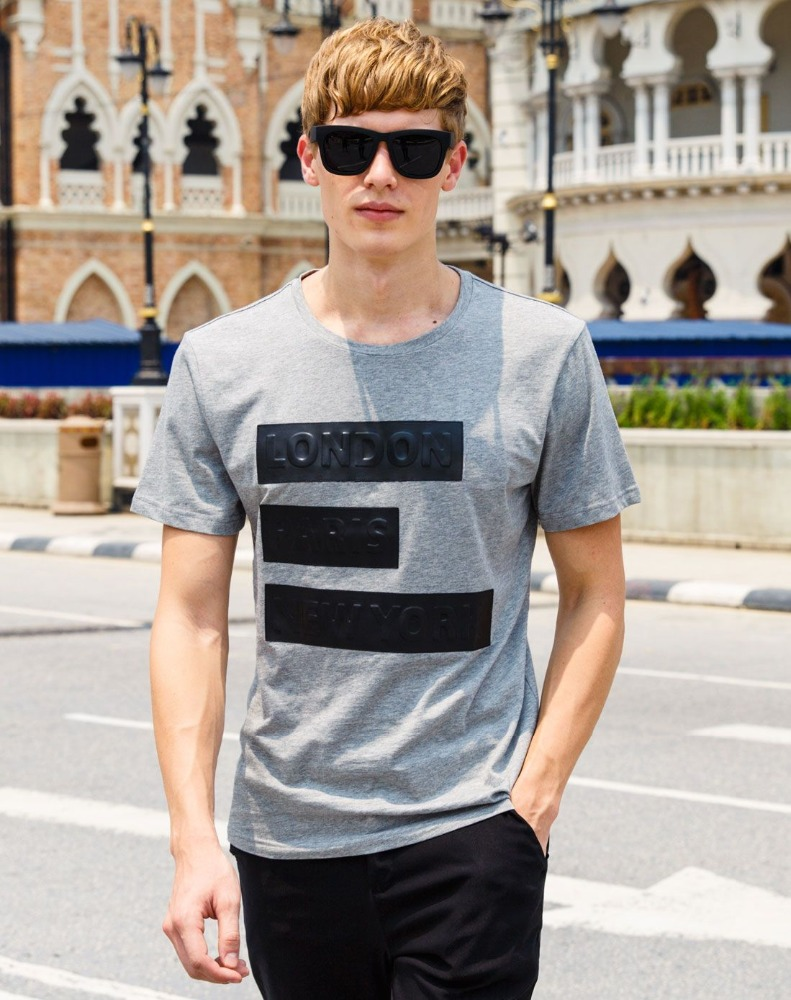 2016 new design rubber print london wax print fabric oversized t shirts wholesale men