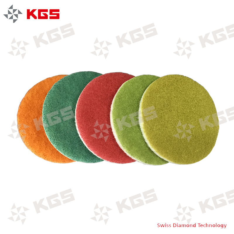 17 inch KGS diamond Compressed Industrial Floor Scrubber Sponge Clean maintainance Eraser Pad