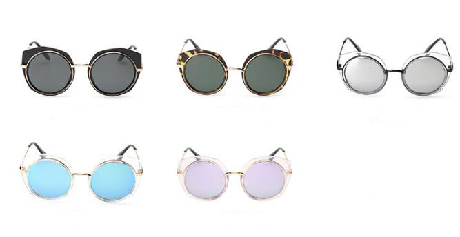 wholesale small order stock Factory directly fashion round metal irregular border sunglasses