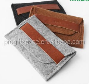 2017 alibaba express hot sale high quality new products eco friendly durable bag felt passport wallet made in china