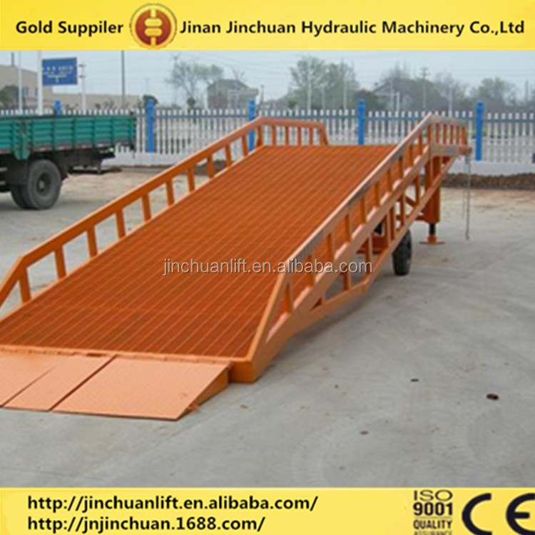 Warehouse adjustable dock leveler/ Hydraulic used mobile yard ramps