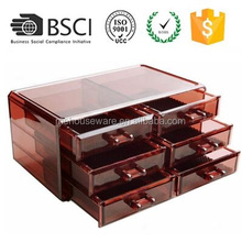 M&E Acrylic Jewelry Box Case Makeup Organizer with Drawers For Cosmetics 2017 Hot Selling