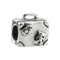 Wholesale Suitcase for Traveling or Vacation Genuine 925 Sterling Silver Charm for European Bracelet