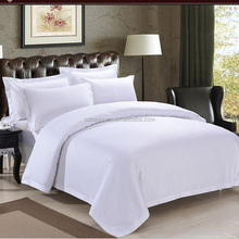 High quality 5 start hotel 100% cotton white commercial bed linen size