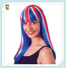 Cheap Costume Fancy Dress Long Union Jack Synthetic Party Wigs HPC-1342