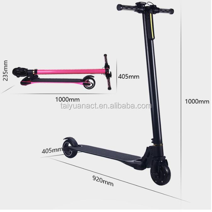 Carbon Fiber Stand Up Electric Chariot Mini Two Wheels Kick Scooter Electric