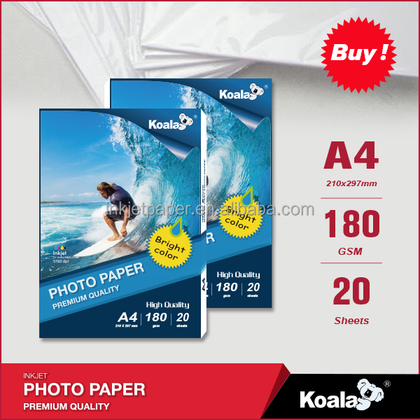 180g Inkjet glossy photo paper, a4 photo paper glossy