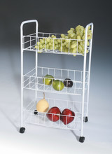 127-46 household essentials multipurpose 3-Tier kitchen trolley cart with wheels