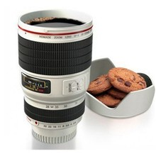 custom best design with company logo ceramic camera lens mug