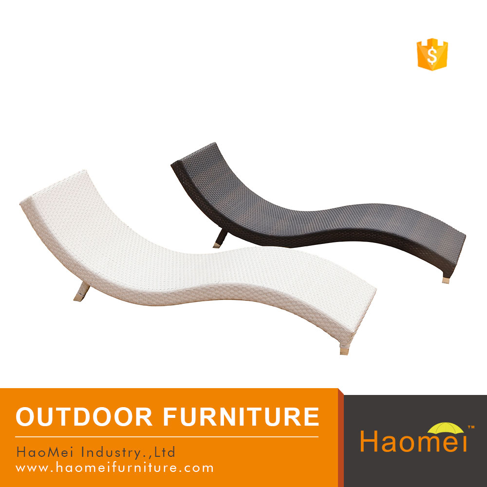 european widely used reclining rattan patio chaise lounge