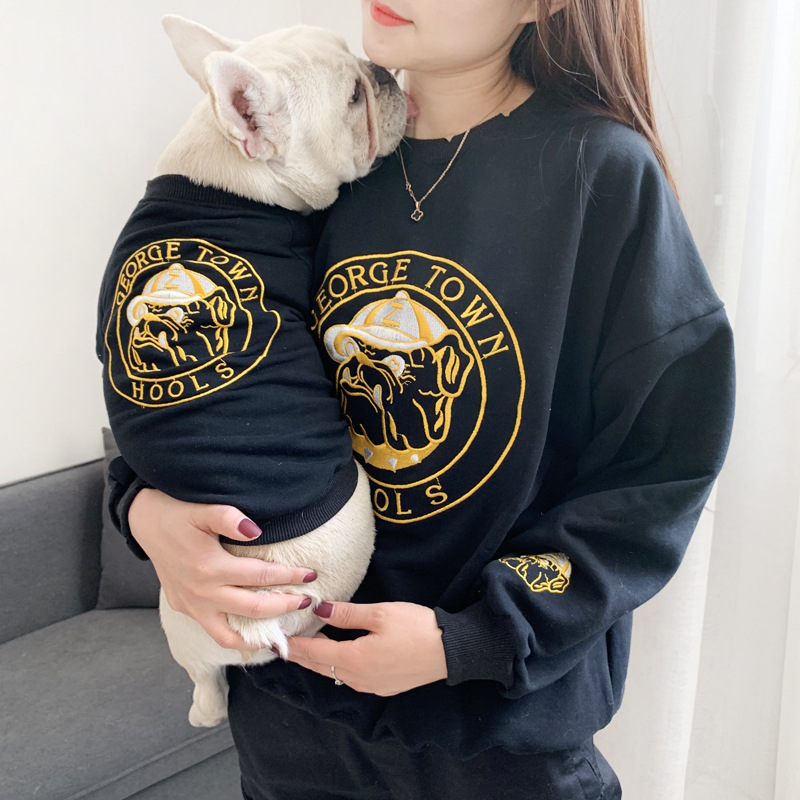 Fashion pet clothes korean style matching <strong>dog</strong> and owmer clothes family shirts for teddy bulldog