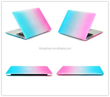 Wholesale gradient colors hard plastic shell case for macbook protective cases