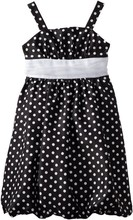 Taobao Kids Sleeveless Black And White Party Fancy Strap Chiffon Dress