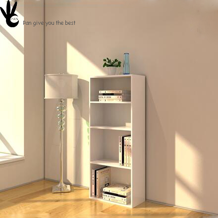 Eco-friendly modern sample living room wood carved book case with ladder
