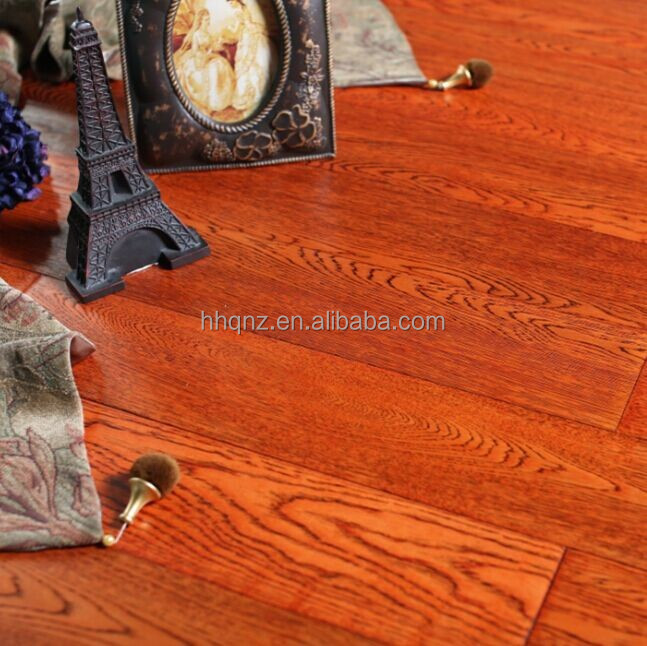 Wide plank style rustic oak engineered hardwood flooring(Unilion click)