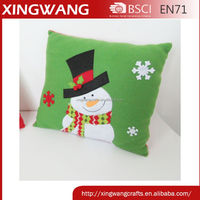 Guangdong factory wholesale christmas products ho ho ho christmas cushions pillow