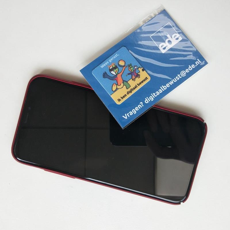 microfiber custom logo adhesive screen cleaner sticker