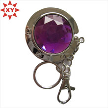 Round shaoe hang purse hook with key ring