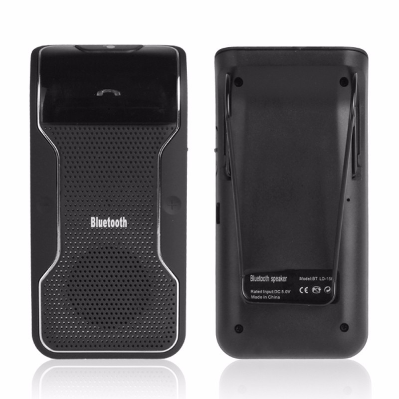 Wireless Black Hands free Bluetooth Car Kit Speaker Sun Visor For Smart phones