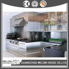 Sliver color stainless steel modular kitchen design export to Cambodies