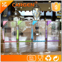 Customized portable plastic clear a5 memo water bottle