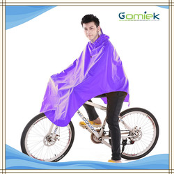 Promotional Rain Poncho PVC Bicycle Raincoat Men's Poncho with Reflective Tape
